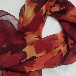Accessories - Fall color long sheer scarf